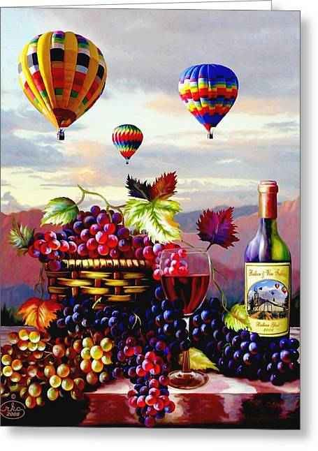 Still-life With A Basket Greeting Cards - Balloon Ride at Dawn Greeting Card by Ronald Chambers