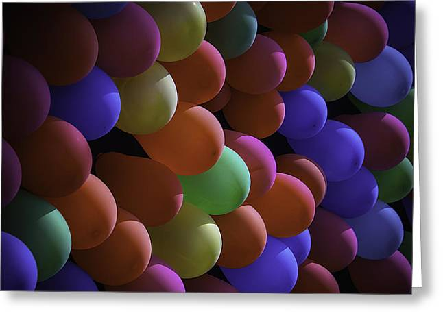 County Fair Greeting Cards - Balloons At The Fair Greeting Card by Garry Gay