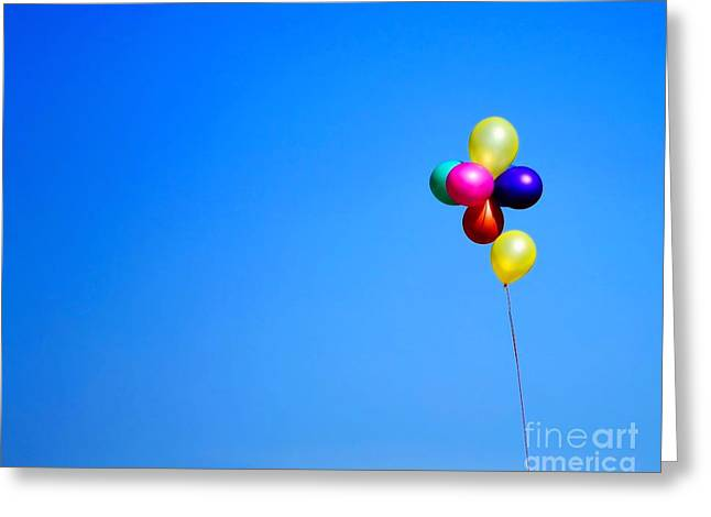 Child Toy Greeting Cards - Balloons Greeting Card by Jimmy Ostgard