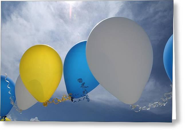 Balloons Greeting Card by Patrick M Lynch