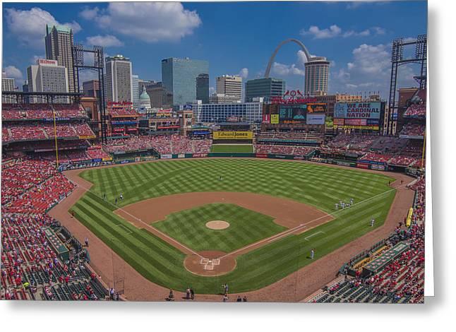 Ballpark Village Cardinal Nation Busch Stadum St. Louis Cardinals April 2015 #2 Greeting Card by David Haskett