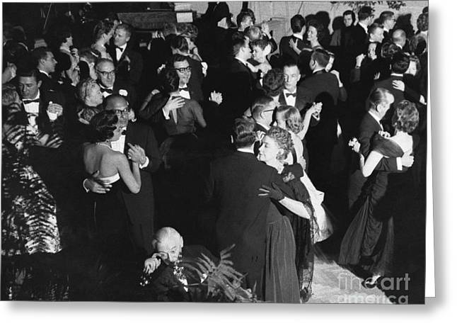 Black Tie Photographs Greeting Cards - Ballroom Dancing Greeting Card by Paul Berg