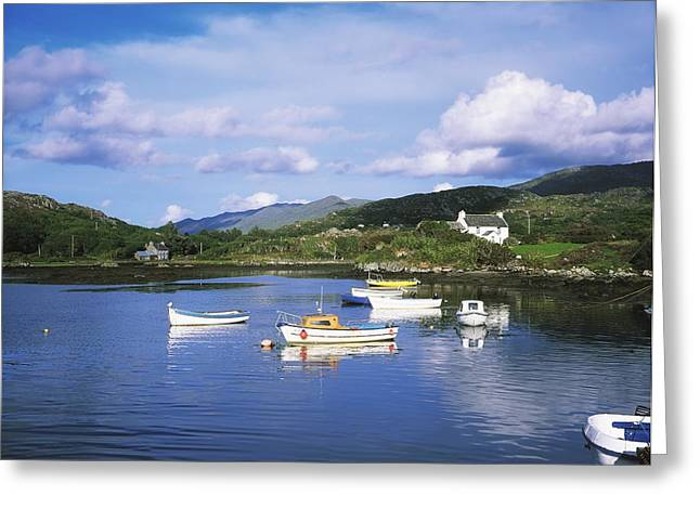 Docking Greeting Cards - Ballycrovane Harbour, Beara Peninsula Greeting Card by The Irish Image Collection