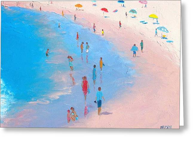 Beach Themed Greeting Cards - Balmy beach day Greeting Card by Jan Matson