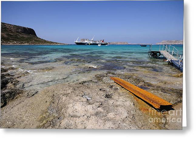 Balos Beach Greeting Card by Stephen Smith