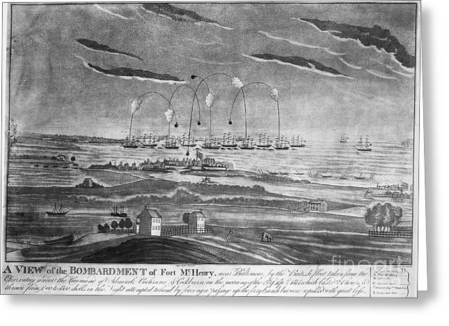 1814 Greeting Cards - BALTIMORE: FORT McHENRY Greeting Card by Granger