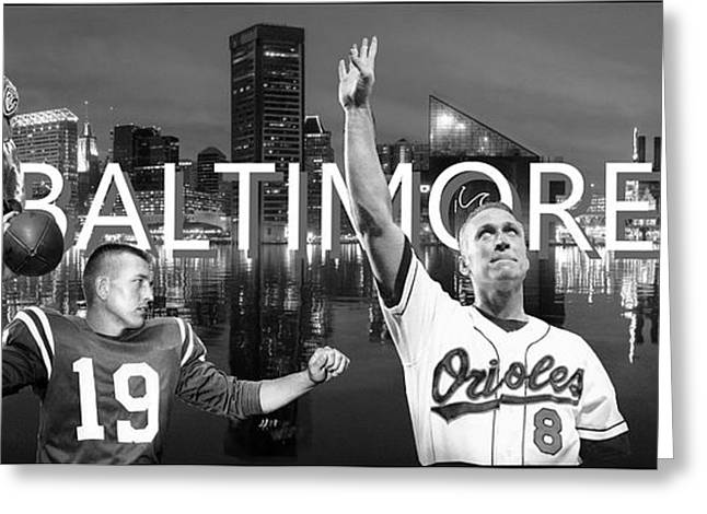 Baltimore Legends Greeting Card by Corrie Everhart