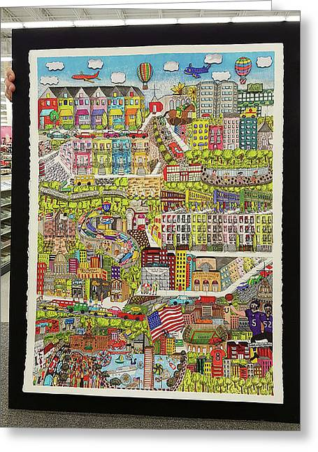 Baltimore, My Hometown Greeting Card by Valerie Batts