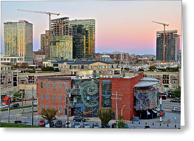 Baltimore On The Rise Greeting Card by Frozen in Time Fine Art Photography