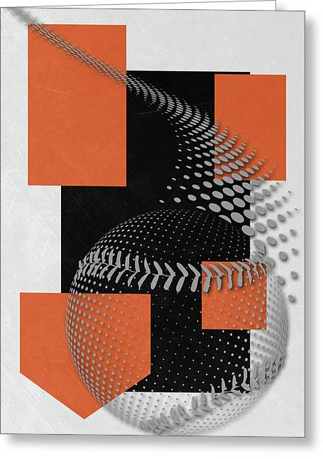 Baltimore Orioles Art Greeting Card by Joe Hamilton