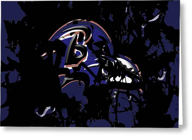 Baltimore Ravens 1e Greeting Card by Brian Reaves