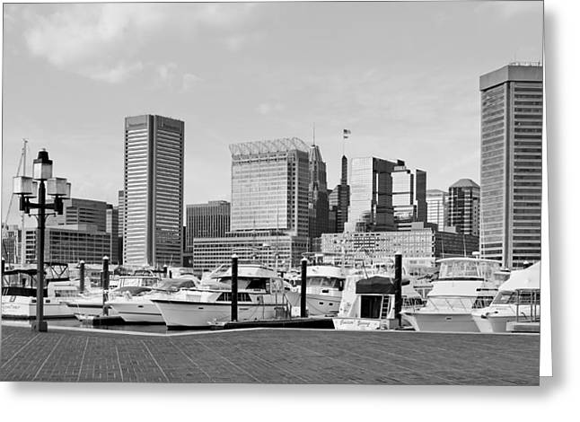 Baltimore Waterfont - Inner Harbor  Greeting Card by Brendan Reals