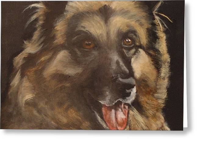 Dog Close-up Paintings Greeting Cards - Balto Greeting Card by Carol Russell