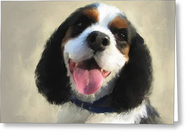 Spaniel Greeting Cards - Balues smile Greeting Card by Diane Chandler