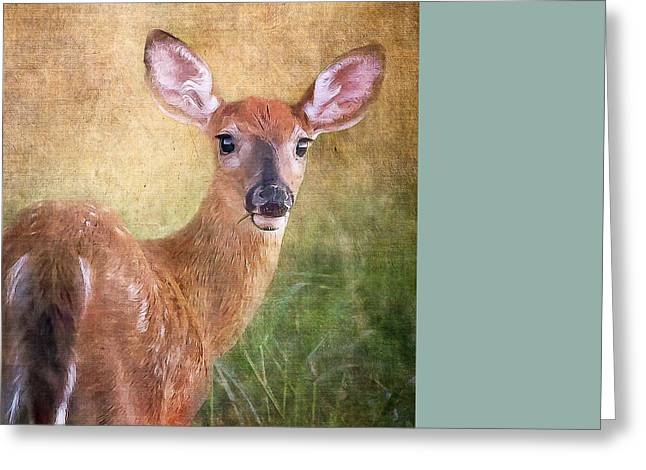 Warm Tones Greeting Cards - Bambi Greeting Card by Ann Flugge