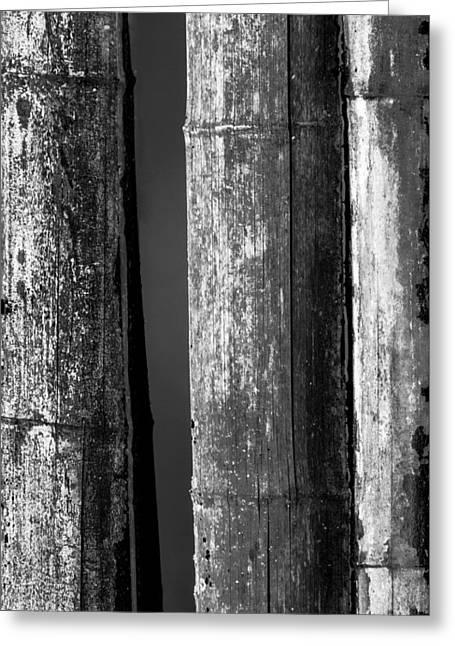 Bamboo Abstract Greeting Card by Wim Lanclus