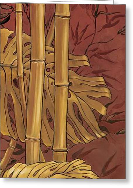Burgundy Greeting Cards - Bamboo Grove I Greeting Card by Paul Brent