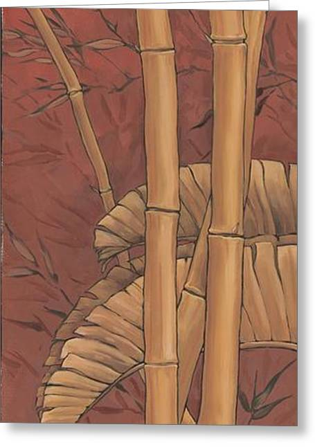 Burgundy Greeting Cards - Bamboo Grove II Greeting Card by Paul Brent