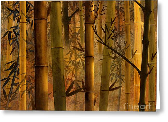 Shade Mixed Media Greeting Cards - Bamboo Heaven Greeting Card by Bedros Awak