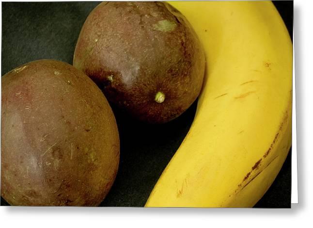 Banana And Maracujas. Greeting Card by Elena Perelman