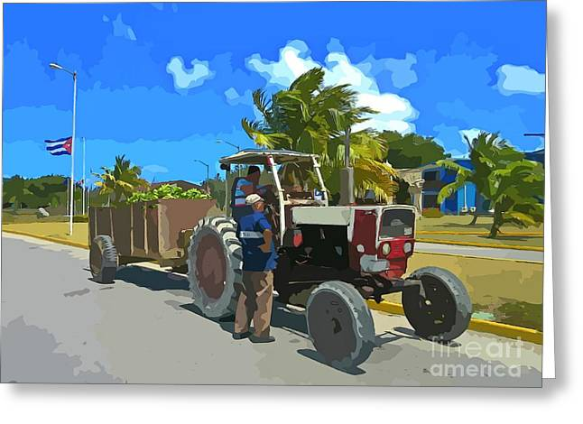 At Work Greeting Cards - Banana Delivery Greeting Card by John Malone