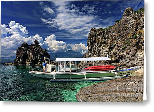 Asien Greeting Cards - Banca at Apo Island Greeting Card by Joerg Lingnau