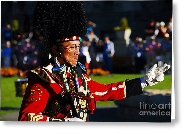 Marching Band Greeting Cards - Band Leader Greeting Card by David Lee Thompson