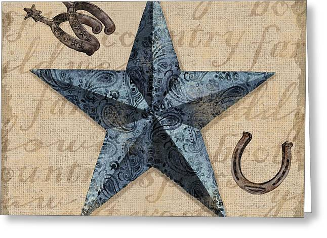 Country Western Greeting Cards - Bandana Barn Star II Greeting Card by Paul Brent