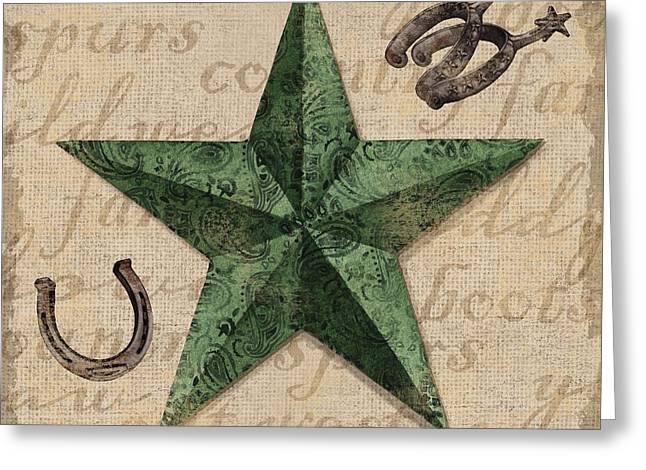 Bandana Greeting Cards - Bandana Barn Star III Greeting Card by Paul Brent