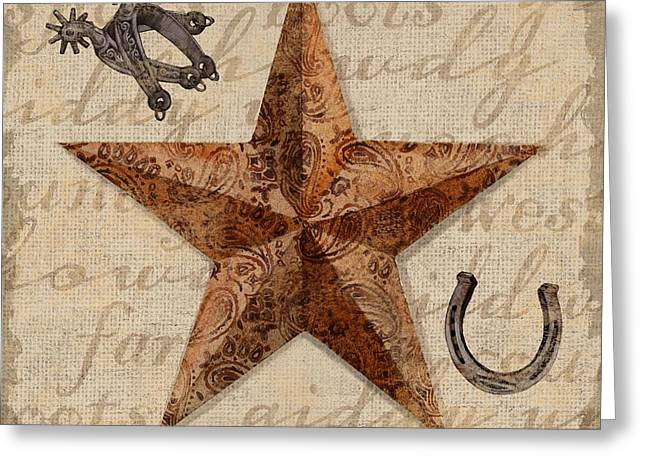 Bandana Greeting Cards - Bandana Barn Star IV Greeting Card by Paul Brent
