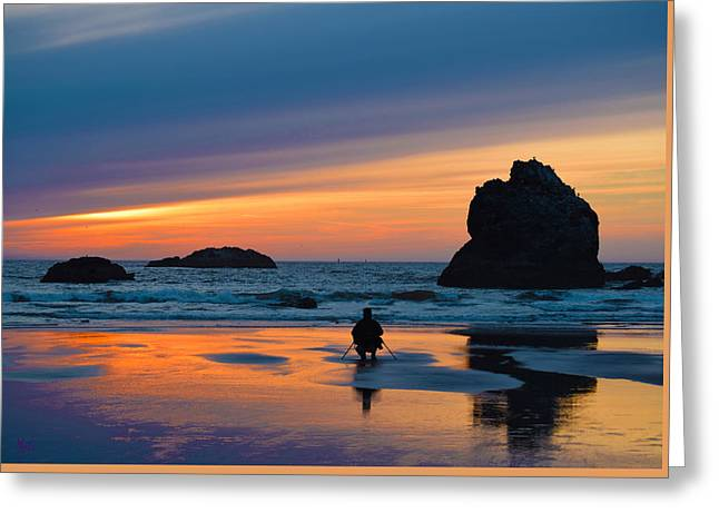 Beach Greeting Cards - Bandon Sunset Photographer Greeting Card by Michele  Avanti