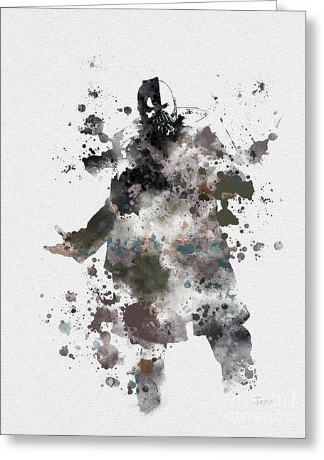 Batman Mixed Media Greeting Cards - Bane Greeting Card by Rebecca Jenkins