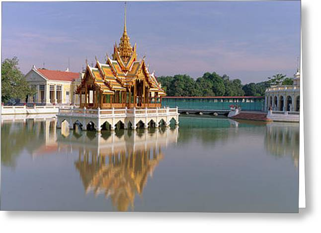 Reflections In River Greeting Cards - Bang Pa-in Palace Thailand Greeting Card by Panoramic Images