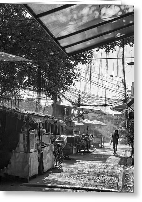 Bangkok Back Streets Greeting Card by Georgia Fowler