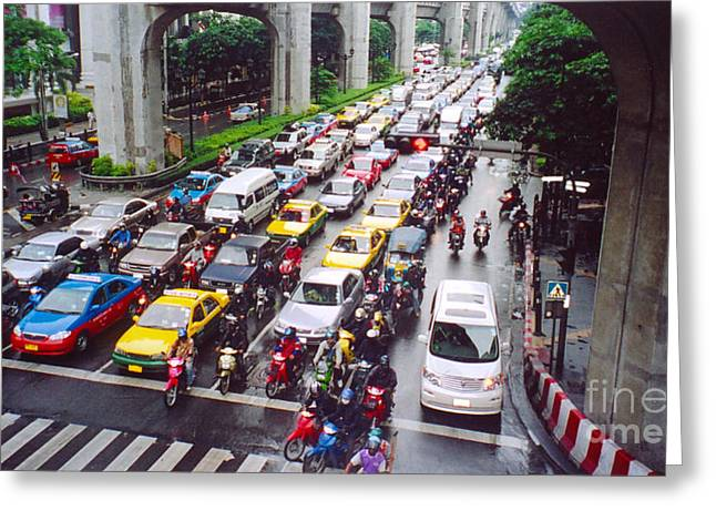 Kim Photographs Greeting Cards - Bangkok Traffic Greeting Card by Kim Magee and Crystal Mclean  Aunt and Niece Photography