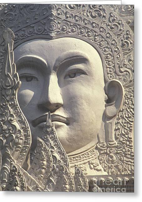 Historical Images Greeting Cards - Bangkok, Wat Rachapradit Greeting Card by Bill Brennan - Printscapes