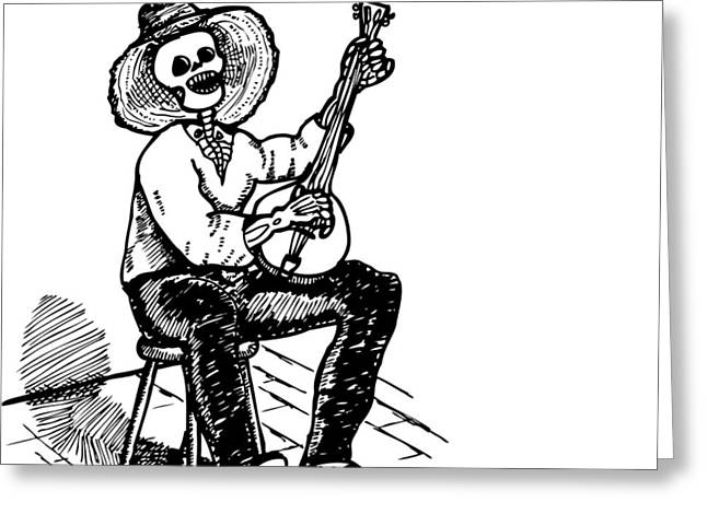 Recently Sold -  - Pen Greeting Cards - Banjo Greeting Card by Karl Addison