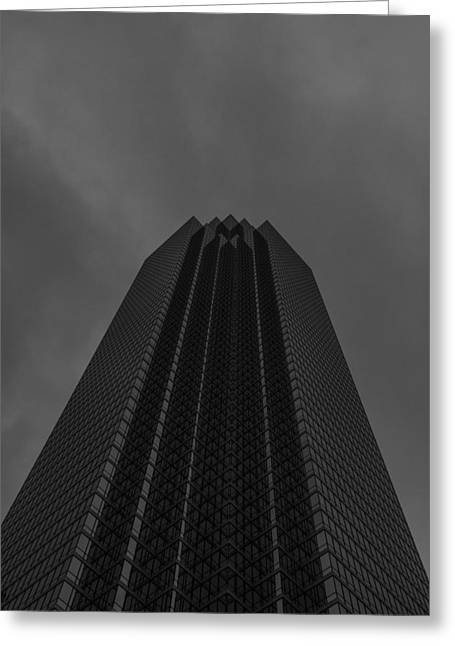 Bank Of America Greeting Cards - Bank Of America Dallas Vertical Greeting Card by Jonathan Davison