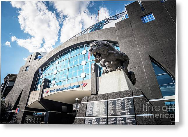 Bank Of America Stadium Carolina Panthers Photo Greeting Card by Paul Velgos