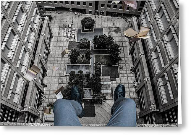 Height Photographs Greeting Cards - Bankruptcy Greeting Card by Tomer Eliash