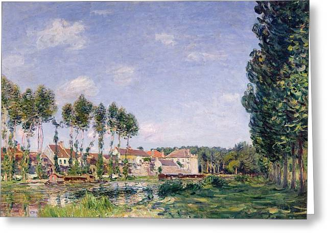 Moret Greeting Cards - Banks of the Loing Greeting Card by Alfred Sisley