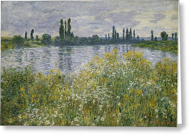 Vetheuil Greeting Cards - Banks Of The Seine - Vetheuil Greeting Card by Claude Monet