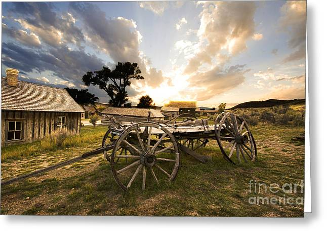 Canadian Photographer Greeting Cards - Bannack Montana Ghost Town Greeting Card by Bob Christopher