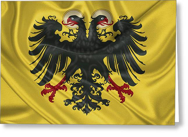 Banner Of The Holy Roman Emperor Greeting Card by Serge Averbukh