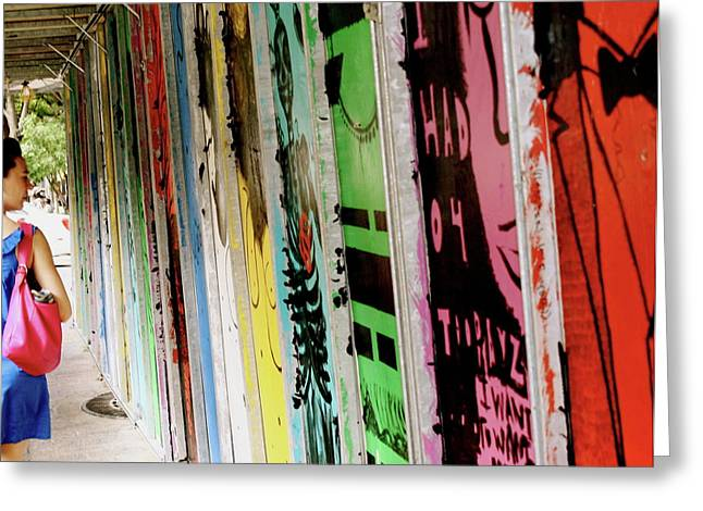 Austin Downtown Greeting Cards - Banners Greeting Card by Alison Mae Photography