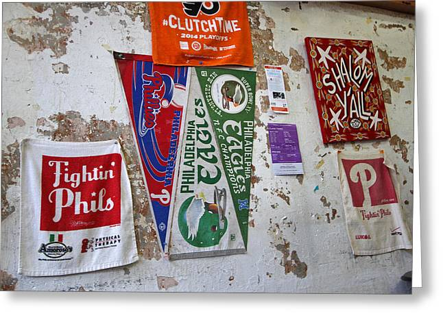 Banners Of The Philadelphia Eagles Greeting Card by Juergen Roth