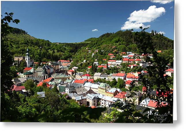 Banska Stiavnica Greeting Card by Renata Vogl