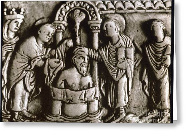 Baptism Of Clovis I, 496 A.d Greeting Card by Granger