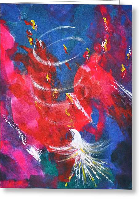 Baptism Of Fire Greeting Card by Denise Warsalla