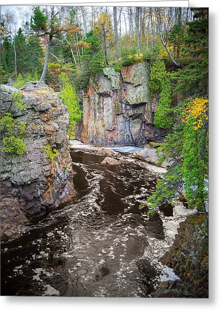 Baptism River In Tettegouche State Park Mn Greeting Card by Alex Blondeau